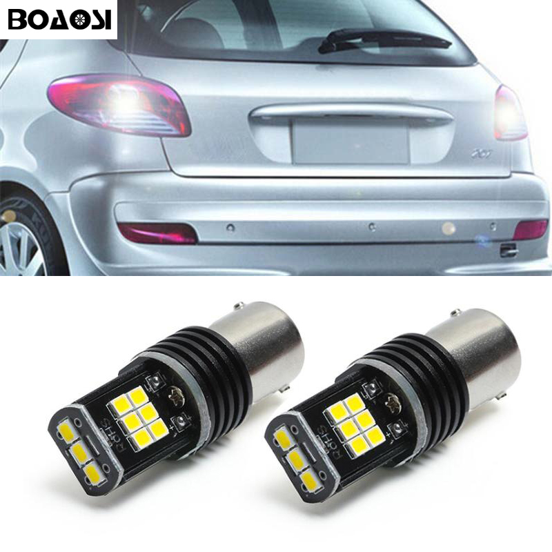 2x 1156 P21W Canbus Error Free 3030 Chips <font><b>LED</b></font> Car Reverse Bulb Rear Light For <font><b>peugeot</b></font> 307 <font><b>206</b></font> 2008 207 308 4008 508 5008 301 image