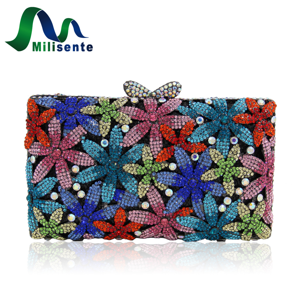Milisente Brand Designer Handbags Pink Women Clutch Bags Gold Wedding Clutches Female Evening Bag Lady Party Purse With Chain luxury designer gold clutches flap women evening bags long chain tassel shoulder bag wedding party rhinestone clutch purse l897
