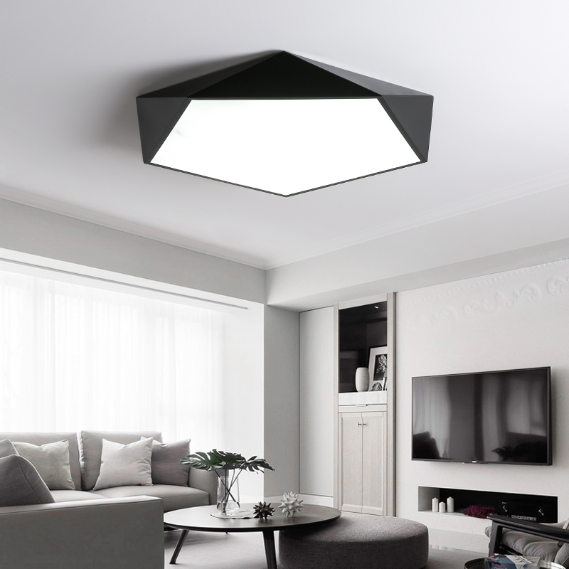 Minimalist Study Room: Black/White 5CM Thickness Chandelier Lighting Bedroom