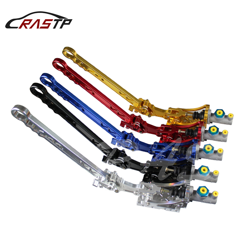 RASTP Aluminum Adjustable E Brake Hydraulic Drift Racing Handbrake Vertical Horizontal Color Black Red Gold Blue