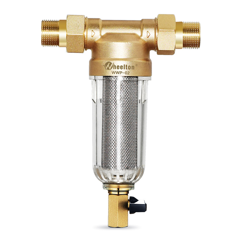 Wheelton Water Pre Filter (WWP-02S) Carry Two Wipers Euro-standard Brass 30Years Lifitime Purifier Give Your Family Good Health