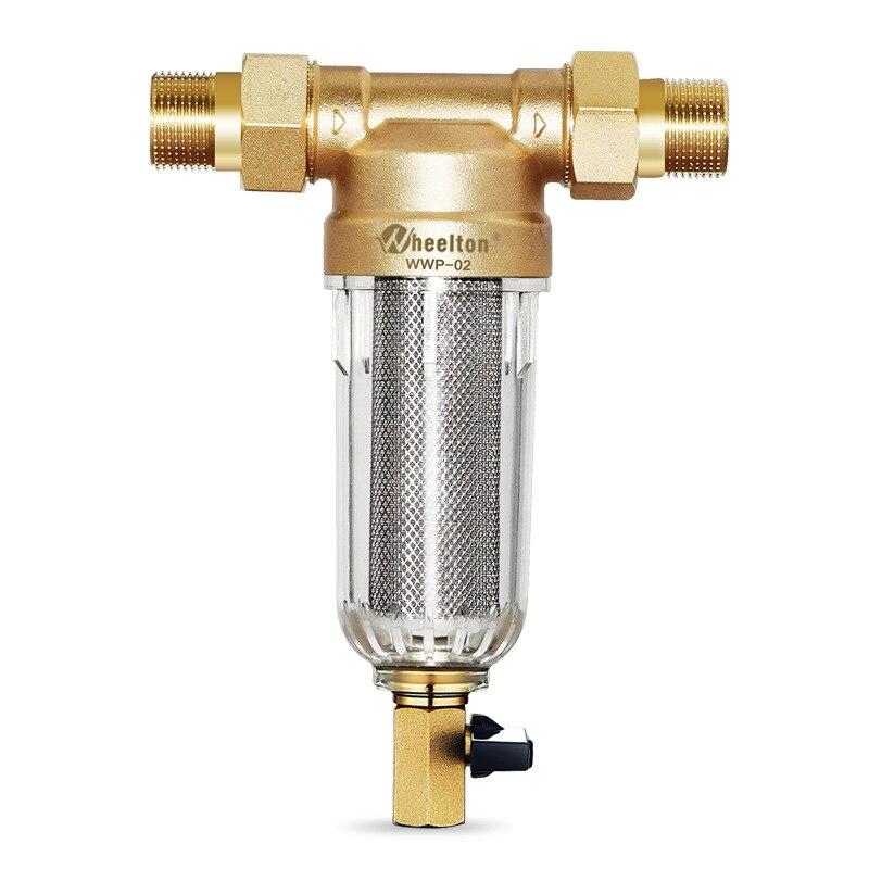 Wheelton eau pré filtre (WWP-02S) transporter deux essuie-glaces Euro-standard laiton 30 ans lifitime purificateur donner à votre famille une bonne santé