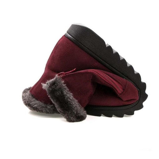 Women Ankle Boots New Fashion Waterproof Wedge Platform Winter Warm Snow Boots Shoes For Female 1