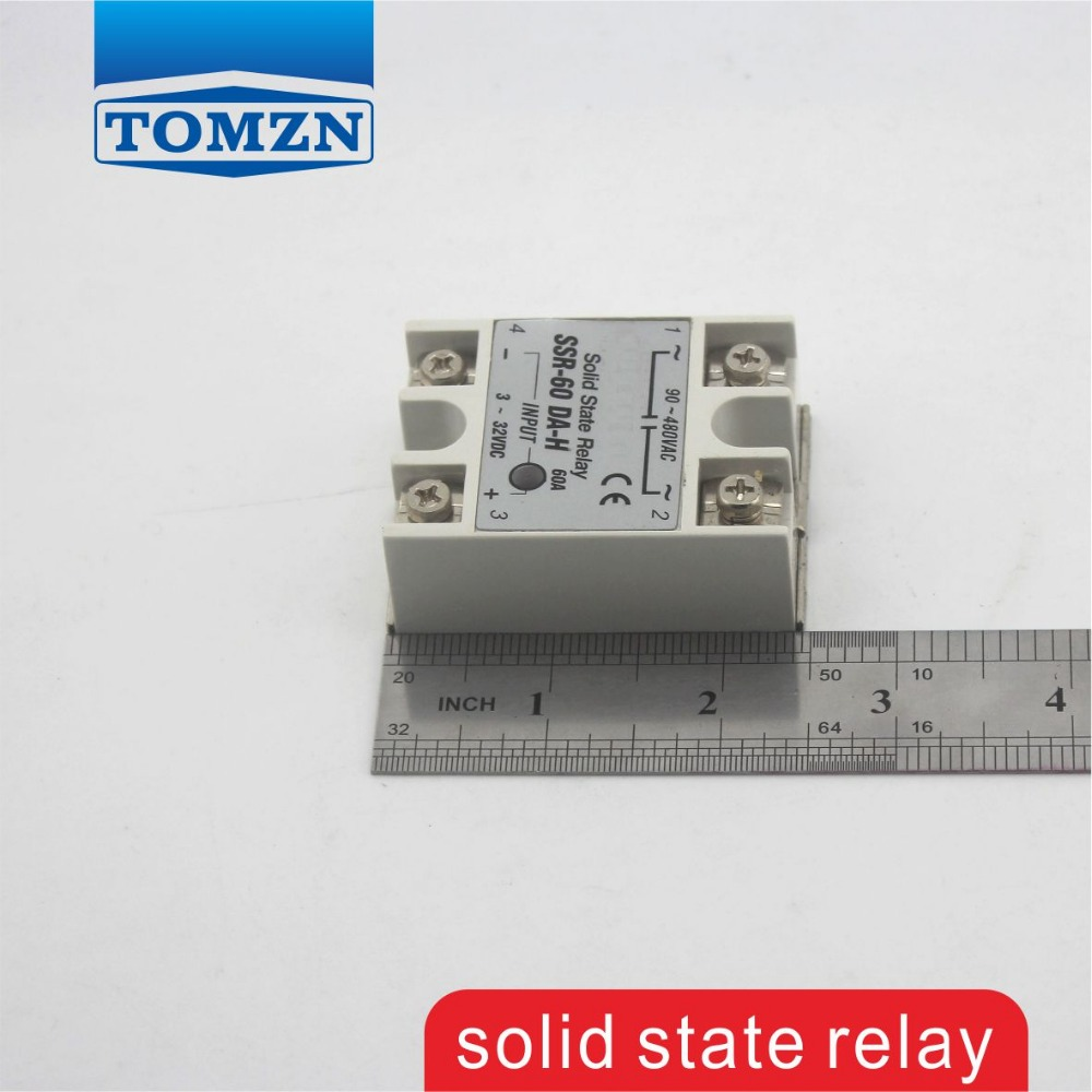 60da Ssr H High Voltage Ac Solid State Relay Input 3 32v Dc Leakage Load 90 480v Single Phase In Relays From Home Improvement On