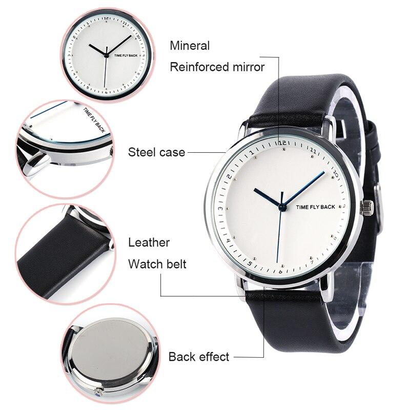 a31524ebd ツ)_/¯الأزياء الكلاسيكية ساعة كوارتز يابانية الرجال الساعة حزام من ...