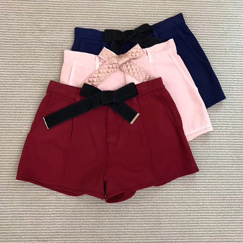 2018 Spring Summer Fashion Woman High Waisted Denim Shorts 100% Cotton Jeans Shorts with Belt Women Shorts Tulle summer women fashion high waist jeans shorts worn hole straight denim shorts solid blue curling edge poket casual shorts