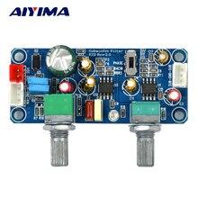 Aiyima 로우 패스 필터베이스 서브 우퍼 프리 앰프 앰프 보드 단일 전원 dc 9 32 v 프리 앰프 (저음 볼륨 조정 포함)