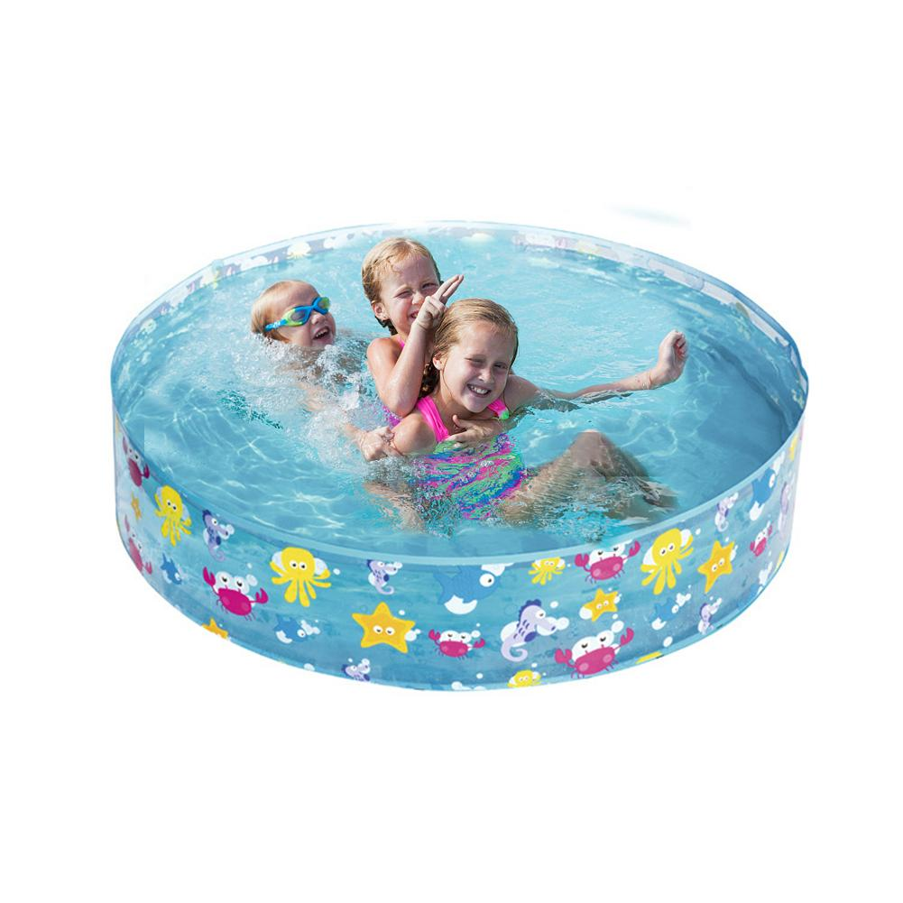 122*25CM Swimming Pool Kids Inflatable Marine Ball Pool Hard Rubber Round Infant Tub Summer Outdoor Baby Pool