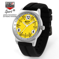 10pcs Lot Wholesales Hot Sales Fashion Racing Color Face Watch Brand GT WATCH High Quality Men