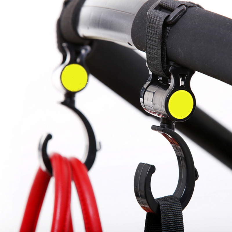 2 PCS/LOT Baby Stroller Accessories Hook Multifunction Baby Pram Stroller Black High Quality Plastic Hook