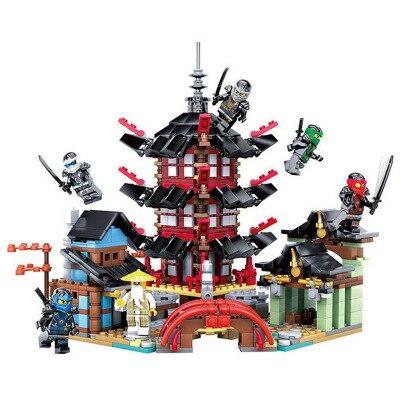 Ninjag Temple 737+pcs DIY Building Block Sets educational Toys for Children Compatible legoingly ninjagoes