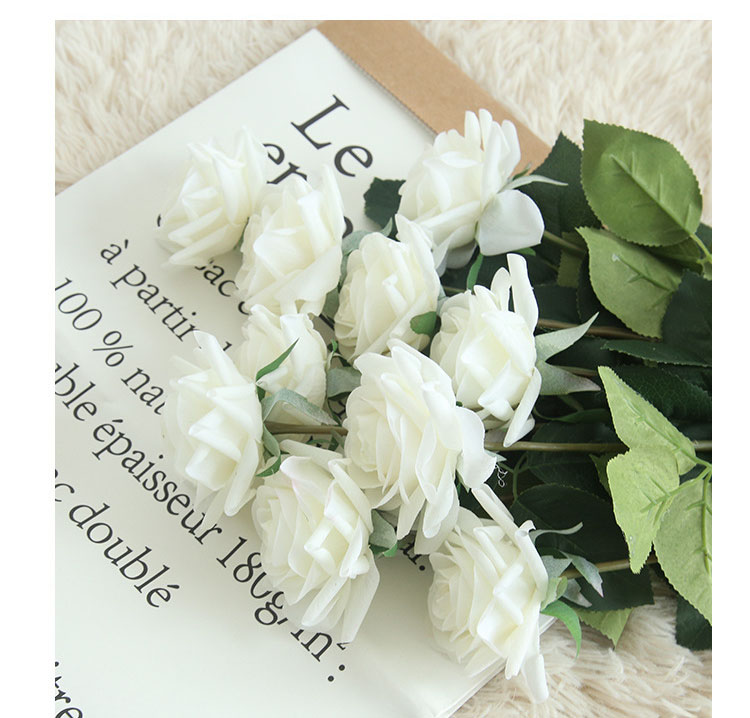 Real touch roses artificial flower wedding home decoration (9)