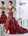 SaudiArabia Two pieces sweetheart Appiques three quarter seelveTrumpet Evening Dresses robe de soiree manche longue caftan dubai