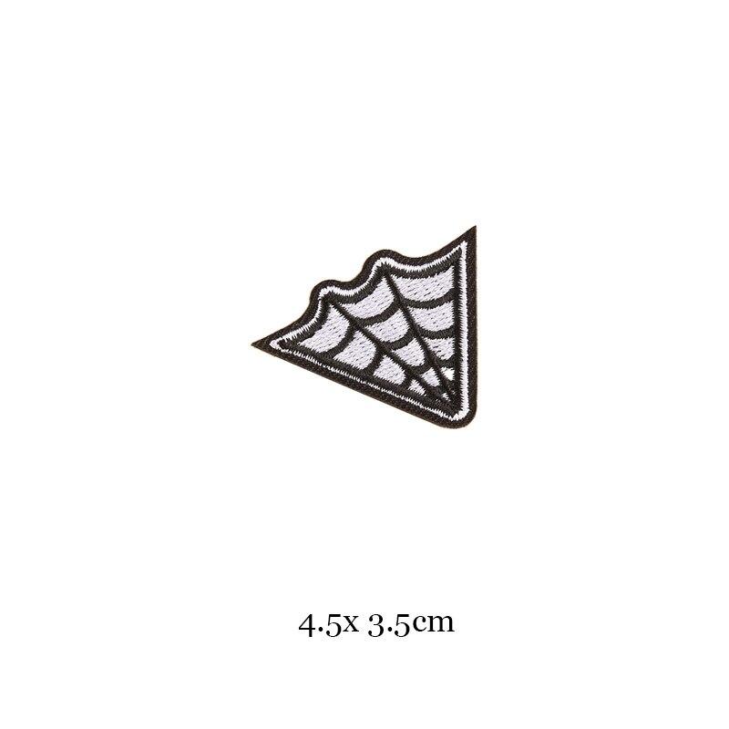 1 шт., черные, белые байкерские нашивки для одежды, железная одежда, аппликация с буквами, Череп, звезда, полосы, вышитая наклейка, круглый значок - Цвет: 4
