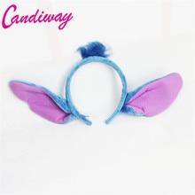 Candiway Minnie Ears Bow Headband Stitch Ears Hair Band Kids Birthday Party Halloween Christmas Party Headwear Hair Accessories