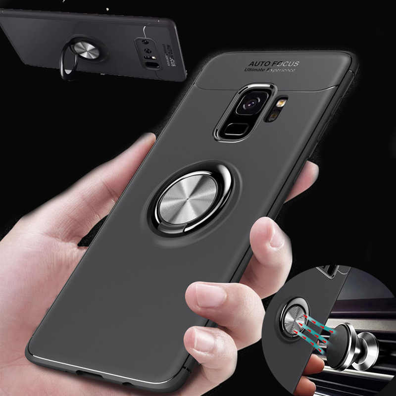 separation shoes 954fa bad99 Car Holder Magnetic Finger Ring Case For Samsung Galaxy S8 S9 Plus Note 8  S7 Edge J5 J7 J3 Prime 2017 2016 A6 J8 2018 Cover Capa