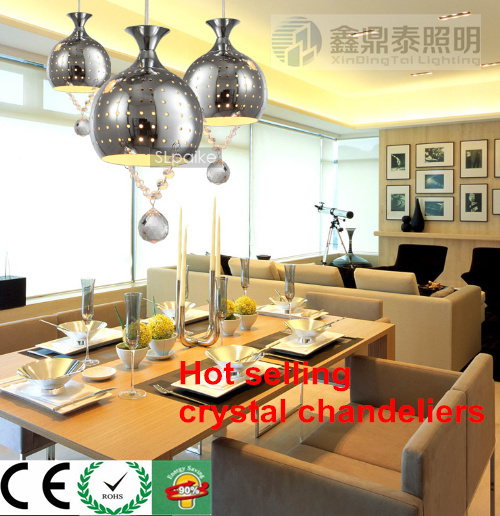 Fashion Cystal Pendant Light  modern minimalist Crystal Pendant Lamp E27 Ceiling lamp