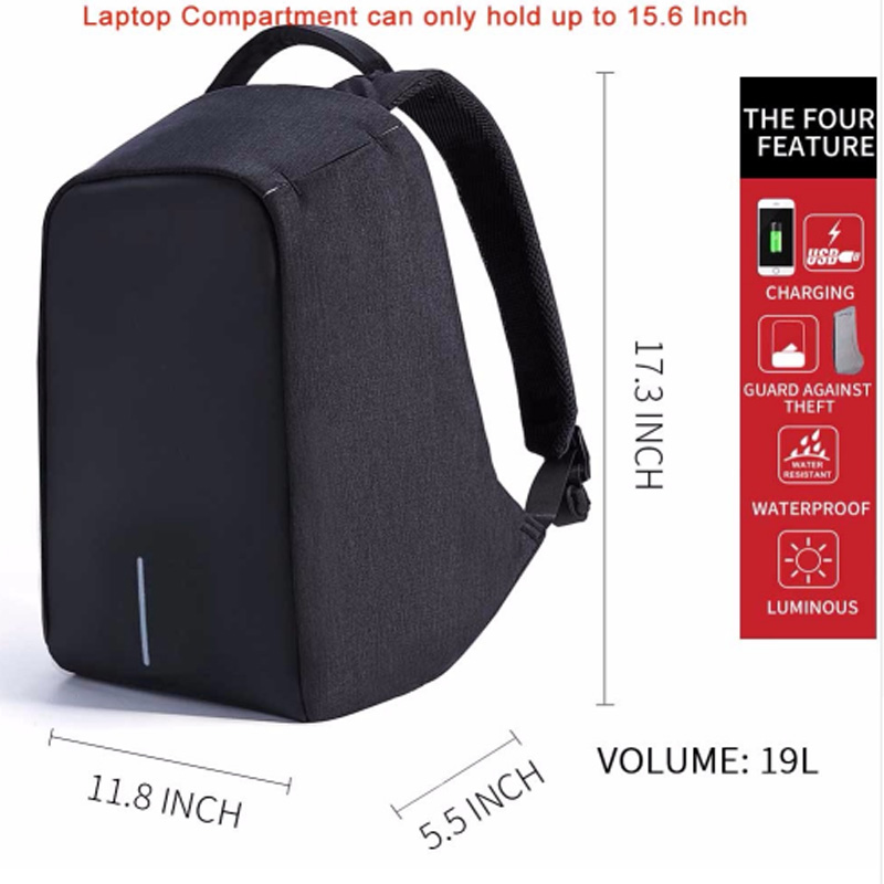 Extend Anti-theft Waterproof Laptop Backpack Men External USB Charge Notebook Backpack for Women 15.6 Computer bag Mochila