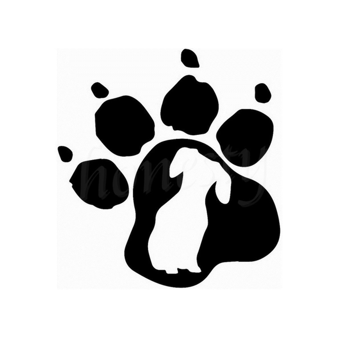 Transfer Stickers For Walls Dog Paw Print Wall Home Glass Window Door Car Sticker