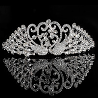 Fashion The Bridal Crystal Set Auger Phoenix Tiara Crown Alloy Elegant Beautiful Shiny Wedding Accessories For