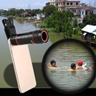 12X HD Mobile Phone Telescope Telephoto Lens Zoom Optical Cell Phone Camera Lens Kit with Clip for iPhone Samsung Huawei Xiaomi
