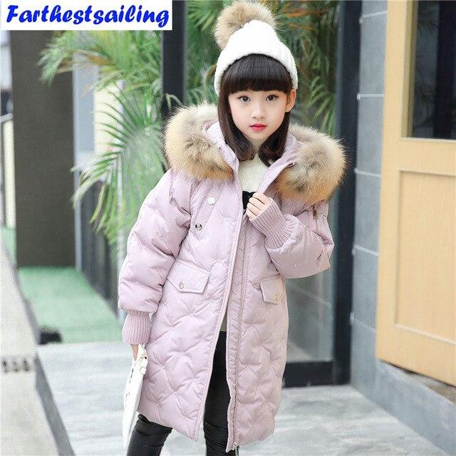 fe58ba3eab41 2017 warm kids down jacket for girl children s cold winter jackets ...