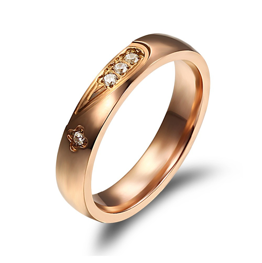Gold  Stainless Steel + Cz Diamond Jewelry Bands 455  Aliexpress Mobile