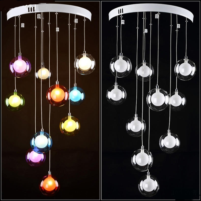 Modern minimalist restaurant LED living room pendant light bedroom lamp glass ball bubble lamp creative a riot ZH ZL326