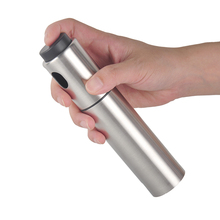 Silver Stainless Steel Olive Pump Spraying Oil Bottle Sprayer Can Oil Jar Pot Tool Pot Cookware Kitchen Cooking Tools