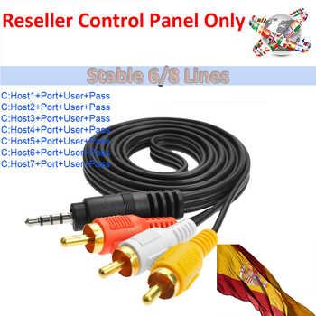 Reseller Control Panel Best Stable 6/8 Lines Cccams Spain Ccam Lines For DVB-S2 Freesat V7 HD GTMedia V9 Super V8 Nova