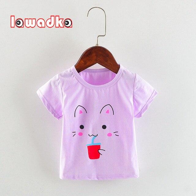 e436d15f1 Baby Girl Summer t shirts Cotton Cartoon Baby Girl Tops Sport ...