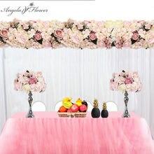 Boules de fleurs artificielles personnalisées, 35cm, centre de table, pivoines, hortensia, pour un arc de mariage, table murale et chandelier