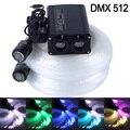 DMX512 20W Double orifice RGB LED plastic Fiber Optic Star Ceiling Kit Light 300pcs 0.75mm 5M
