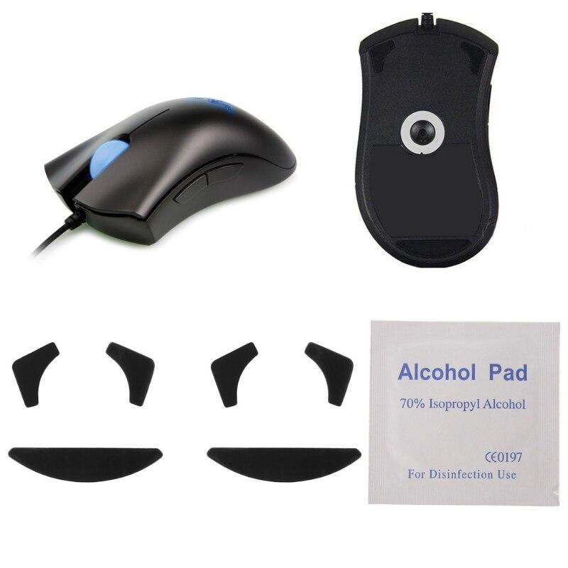 Mouse feet skates mouse pads for Razer DeathAdder Chroma , 2 SETS 0.6MM Thickness razer deathadder chroma