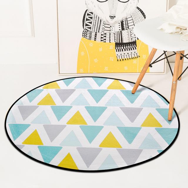 Geometric Round Carpet