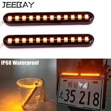 JEEBAY motorcycle turn signal indicator light flashing led blinker 12LED License Plate Light Blinker Stop Turn