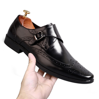Farvarwo итальянский Стиль натуральная кожа формальная обувь Человек пряжки платья оксфорды социальных классические мужские мокасины Monk Strap