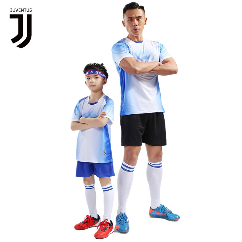 newest 685ae f6ba5 JUVENTUS New Kids Adult personality Soccer Jersey Set Sporstwerar Football  Kit Men Child Football training Uniforms Set shorts