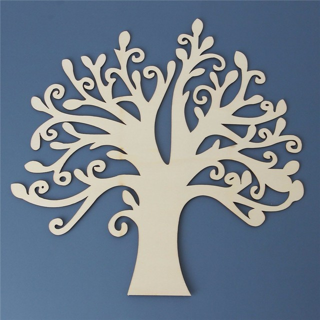 30x28 5cm wooden tree shape decoration diy wood tree decor for wedding family guestbook wall
