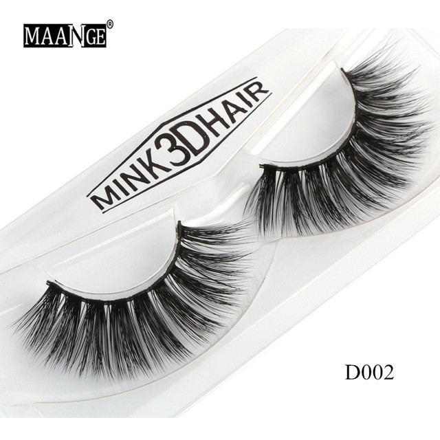 1 Pairs Mink Eyelashes Natural Long 3D Mink Lashes Hand Made False Eyelashes Full Strip Lashes Makeup False Eyelash Beauty Tool 1