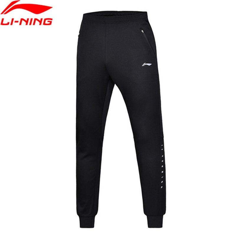 Li-Ning Men Running Knit Sport Pants Regular Fit 100% Polyester Li Ning Breathable Comfort Sport Pants Trousers AKYN005