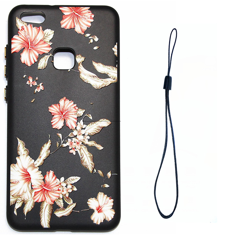 3D Relief flower silicone huawei P10 lite (3)