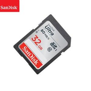 Image 3 - 100% SanDisk Ultra 16GB 32GB 64GB 128GB classe 10 carte SD SDHC SDXC carte mémoire C10 80 mo/s carte sd prise en charge vérification officielle