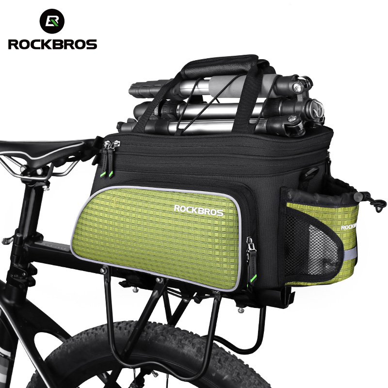 Rockbros Bicycle Accessories Large Capacity Bicycle Bags & Panniers Waterproof Rear Saddle Bags Cycling Bags Bike Accessories rockbros titanium ti pedal spindle axle quick release for brompton folding bike bicycle bike parts