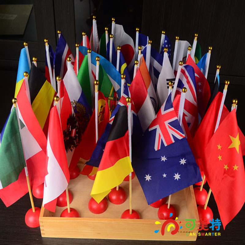 Montessori Materials Education Flags Countries National  Wood Math Tools  Early educational Can Smarter купить