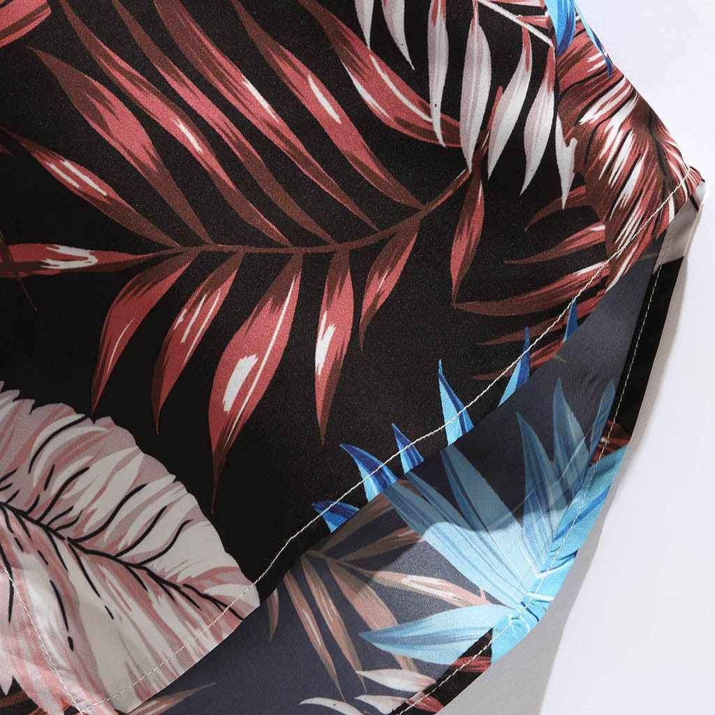 하와이 프린트 반소매 남성 셔츠 캐주얼 셔츠 남성 캐주얼 루즈 비치웨어 버튼 남성 블라우스 탑스 Camisas hombre