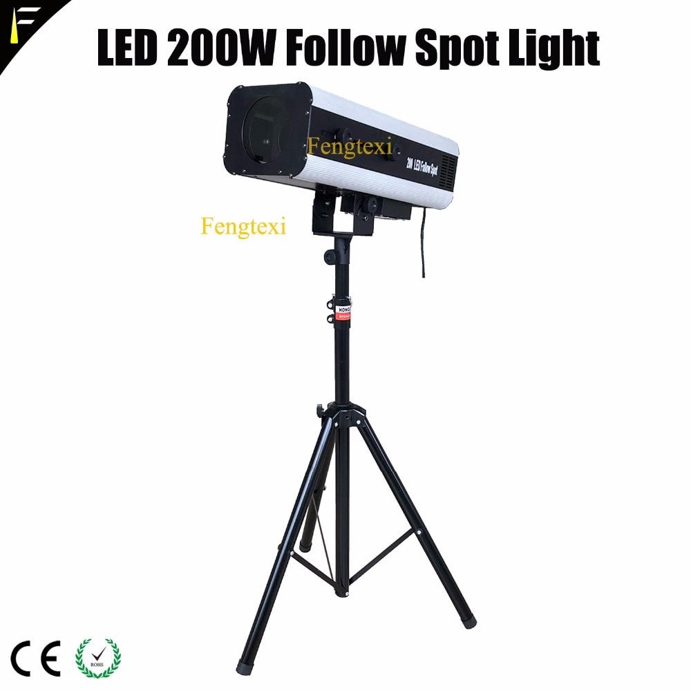 200w LED Concert Followspot Pursuit Follow Spot Light Beam LED 200 Wedding Party Theater Focus Spot Lighting With Tripod цены