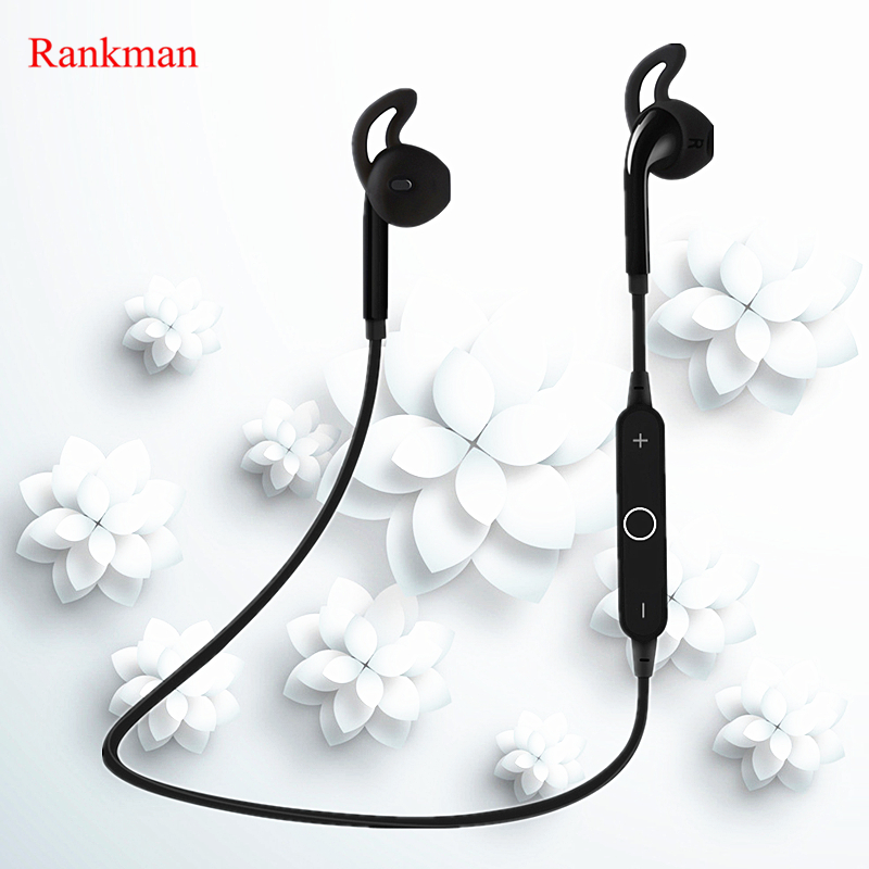 Rankman Hot Bluetooth Wireless Earphones Sports Music Earphone Bass Stereo In-ear Earbuds with Microphone Fit Smartphones new guitar shape r9030 bluetooth stereo earphone in ear long standby headset headphone with microphone earbuds for smartphones