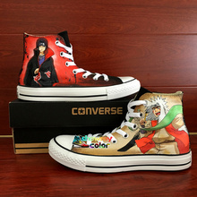 New Original Converse Chuck Taylor Anime Cosplay Naruto Itachi Jiraiya Design Custom Hand Painted Shoes Women Men Sneakers