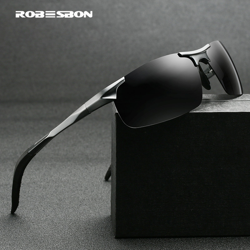 Buy HD095 High quality Aluminum magnesium Frame polarized sunglasses  Cycling glasses driving sun glasses fishing eyewear with case for only 20.58 USD